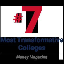 ranking 7 - most transformative colleges - money magazine