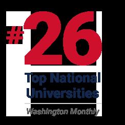 rank 26 - top national universities - washington monthly